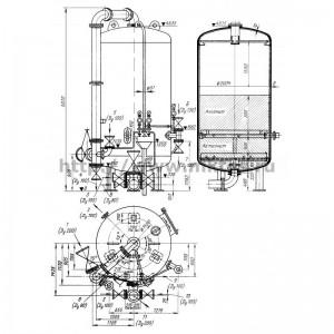 Фильтр смешанного действия (ФСД) диаметром 2000 мм с внутренней регенерацией