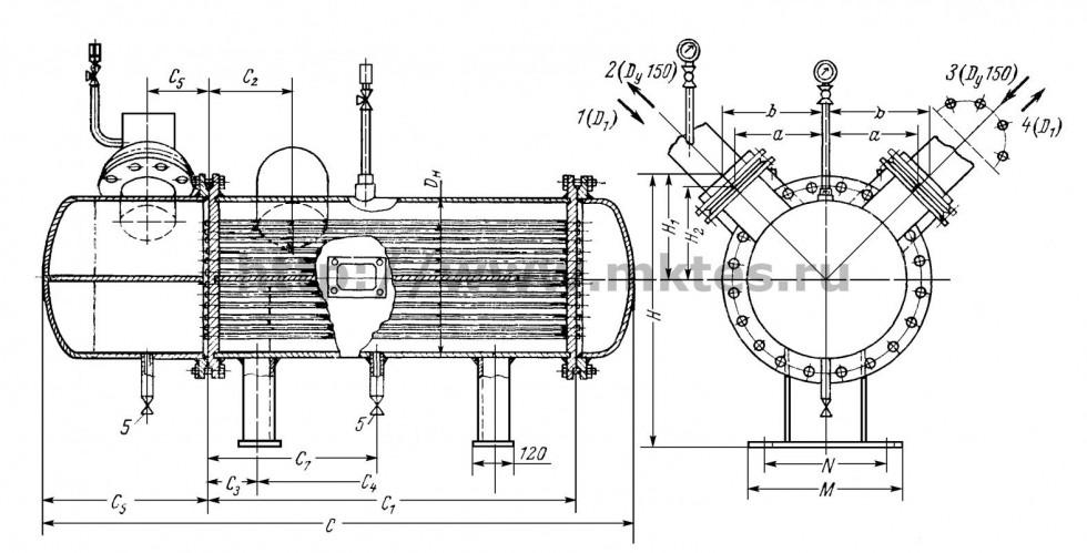Теплообменник водоводный 114пвн-4 цена трубки для кожухотрубчатых теплообменников