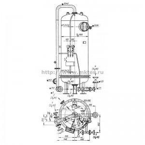 Фильтр осветлительный Д 1000 мм (нижнее распредустройство — ложное дно из пресс-материала АГ-4С)
