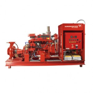 Дизель-насосные установки пожаротушения Grundfos FK, HSC, HSF, DNF