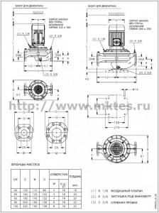 Электронасосы конструкции «Инлайн»  с чугунным корпусом